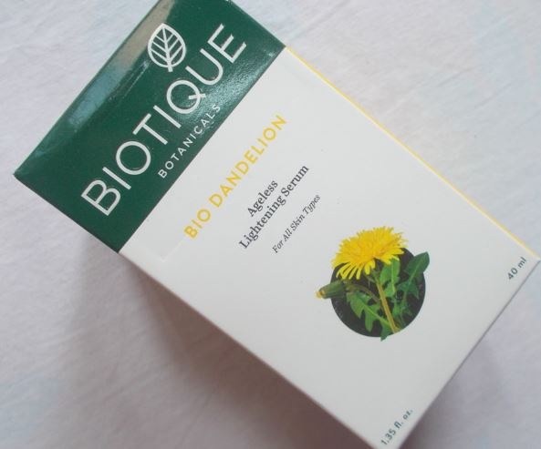 Biotique Bio Dandelion Ageless Lightening Serum-Refreshing and Energising-By kirti_sharma