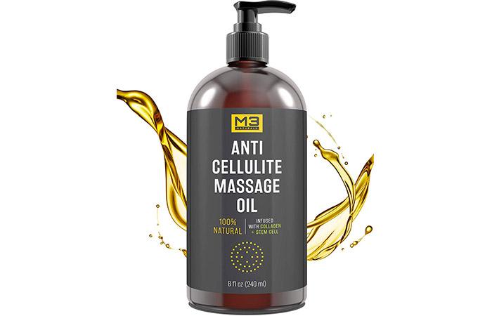 1. M3 Naturals Anti Cellulite Massage Oil