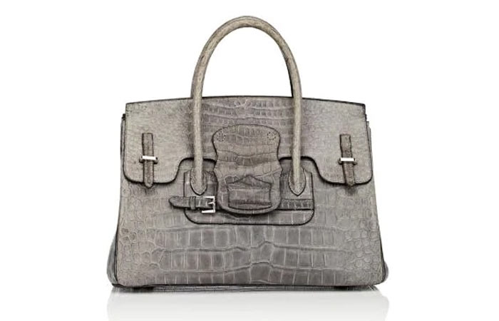 15. Moreau Paris Diligence Crocodile Satchel