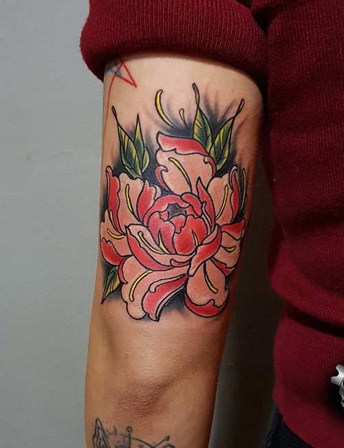 18. Japanese Lotus Tattoo