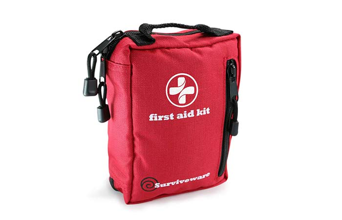 2. Best For Adventure Trips Surviveware Small First Aid Kit