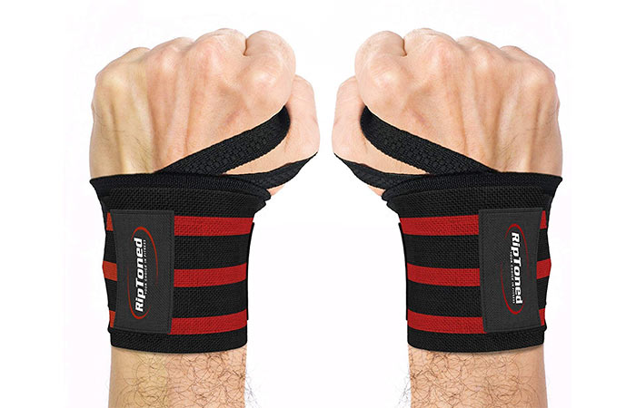 2. Rip Toned Wrist Wraps 18 Professional Grade With Thumb Loops
