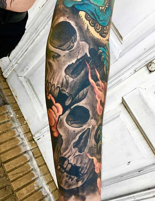 20. Japanese Skull Tattoo