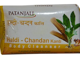 Patanjali Haldi Chandan Kanti Body Cleanser pic 1-Not meant for all skin types-By shruti_joshi