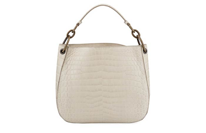 22. Bottega Veneta Soft Crocodile Loop Hobo Bag