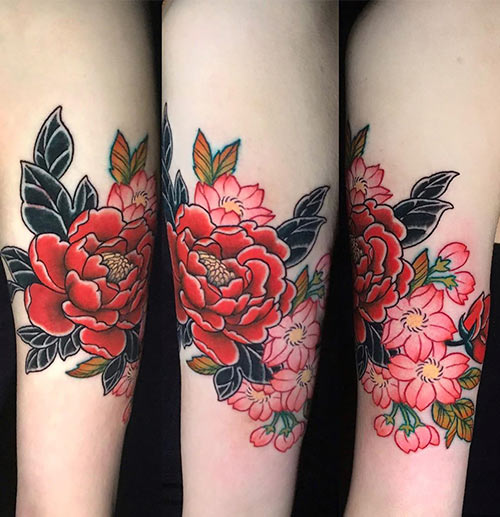 22. Japanese Floral Tattoo