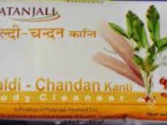 Patanjali Haldi Chandan Kanti Body Cleanser pic 2-Not A Recommended Soap !!-By sindoori_jayaprakash