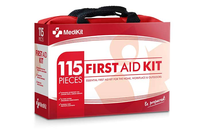 3. Best Basic First-Aid Kit MediKit Deluxe First Aid Kit