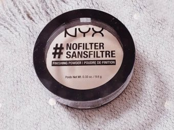 NYX Professional Makeup Nofilter Finishing Powder pic 2-A must have product in the makeup pouch !-By ranjani