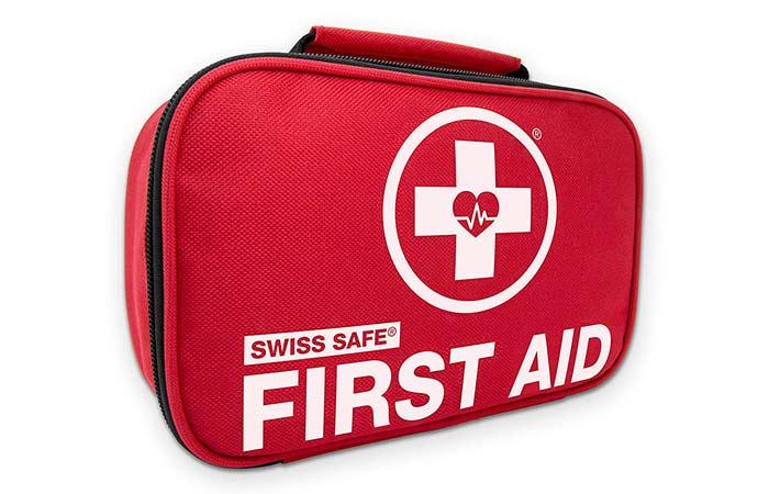 4. Best Compact Kit SWISS SAFE Mini First Aid Kit
