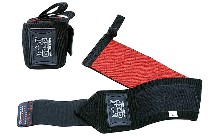 4. Grip Power Pads Deluxe Wrist Wraps