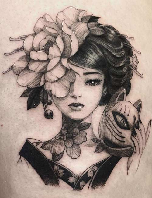 4. Japanese Geisha Tattoo