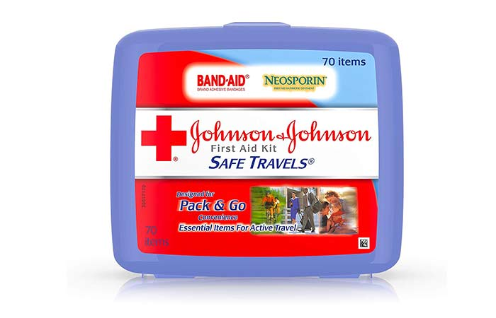 6. Best Budget-Friendly Kit Johnson & Johnson Safe Travels First Aid Kit