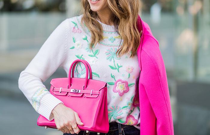 6. Fuchsia Diamond Studded HermèsBirkin