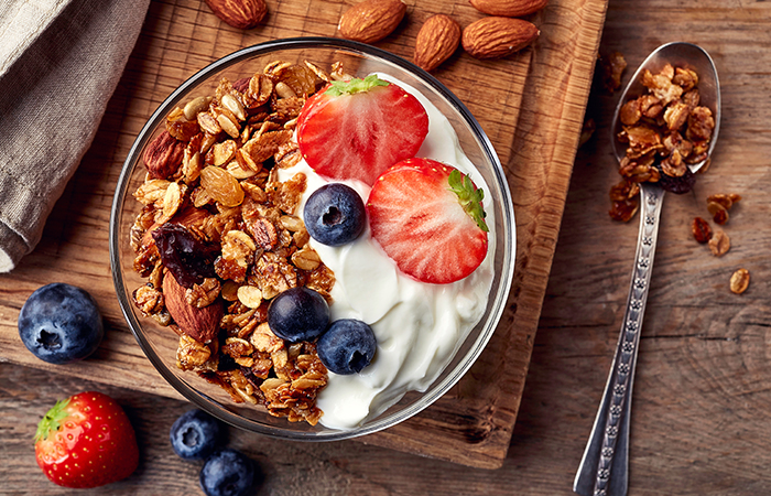 7. Yoghurt, fruits, nuts and seeds