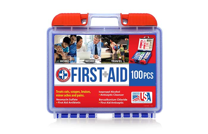 7. Best Kit For Car Be Smart Get Prepared 100-Piece First Aid Kit