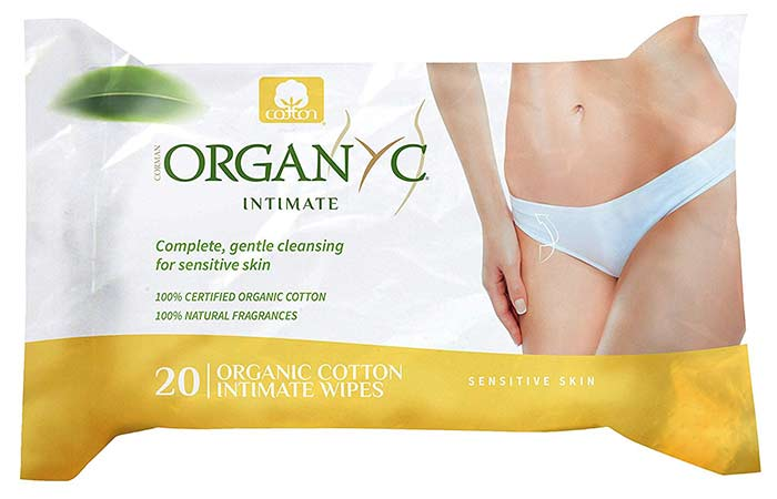 7. Organyc Intimate Hygiene Wet Wipes