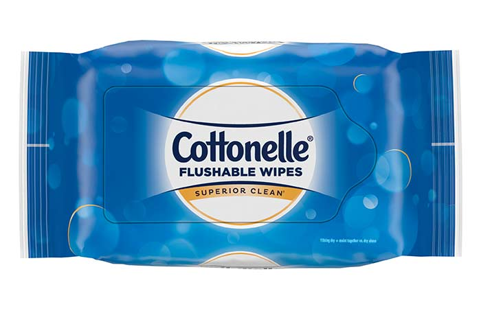 8. Cottonelle Flushable Wipes