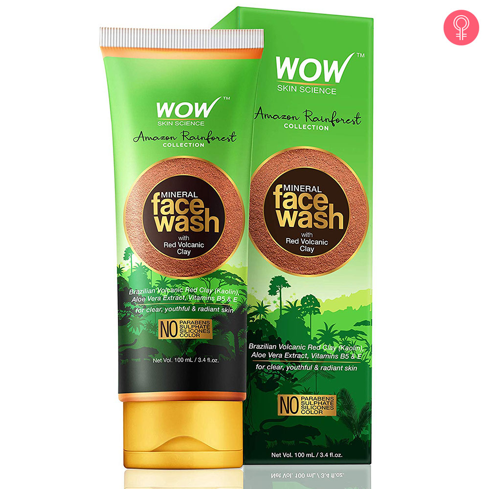 WOW Skin Science Amazon Rainforest Mineral Face Wash with Red Volcanic Clay