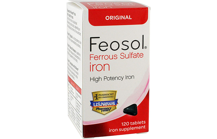 Best For Athletes: Feosol Ferrous Sulfate High Potency Iron