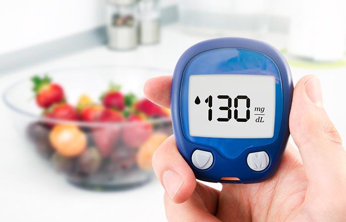 Blood sugar level controlled