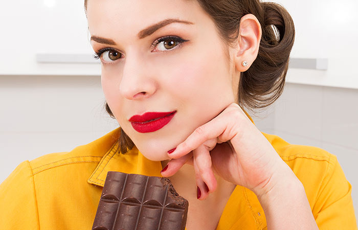 Dark chocolate for skin