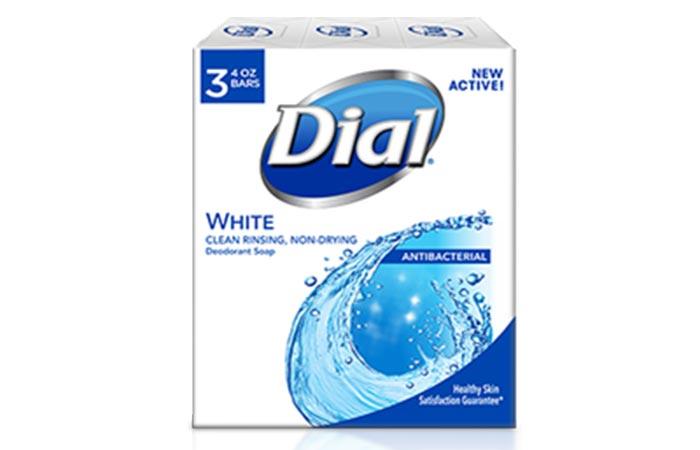 Dial White Antibacterial Bar Soap