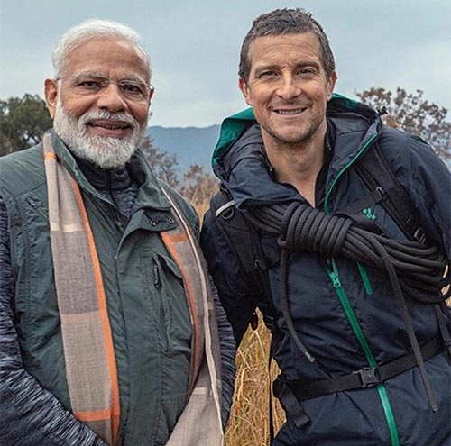 During their travel, Grylls asks Modi what will help India become clean