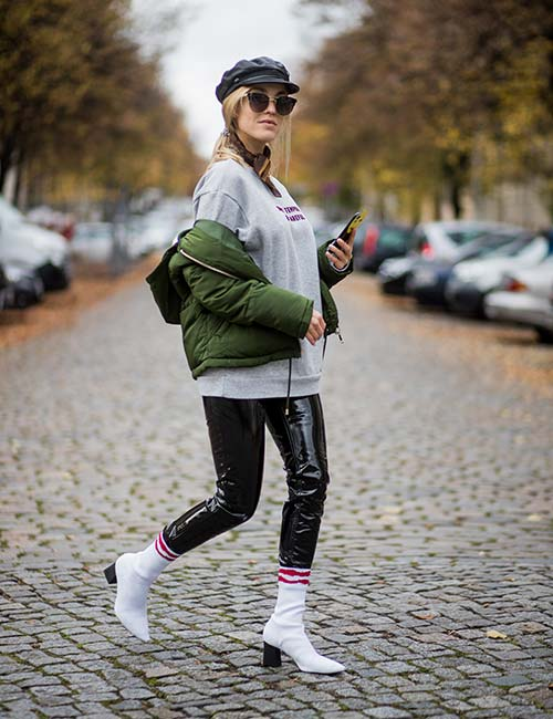 Hoodie And A Jacket Over Leggings – A Layered Outfit