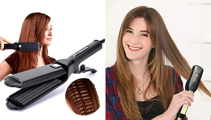 How are hair crimpers different from hair straighteners