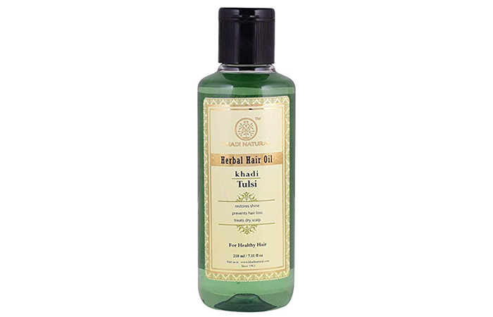 Khadi Natural Tulsi Herbal Hair Oil