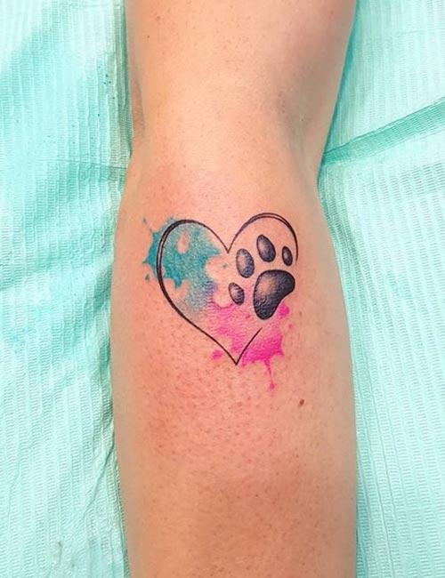 Paw Heart Tattoo