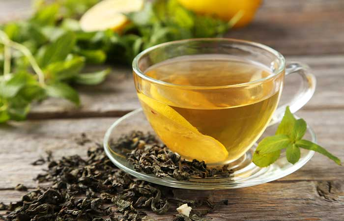 Use of green tea to reduce viral fever