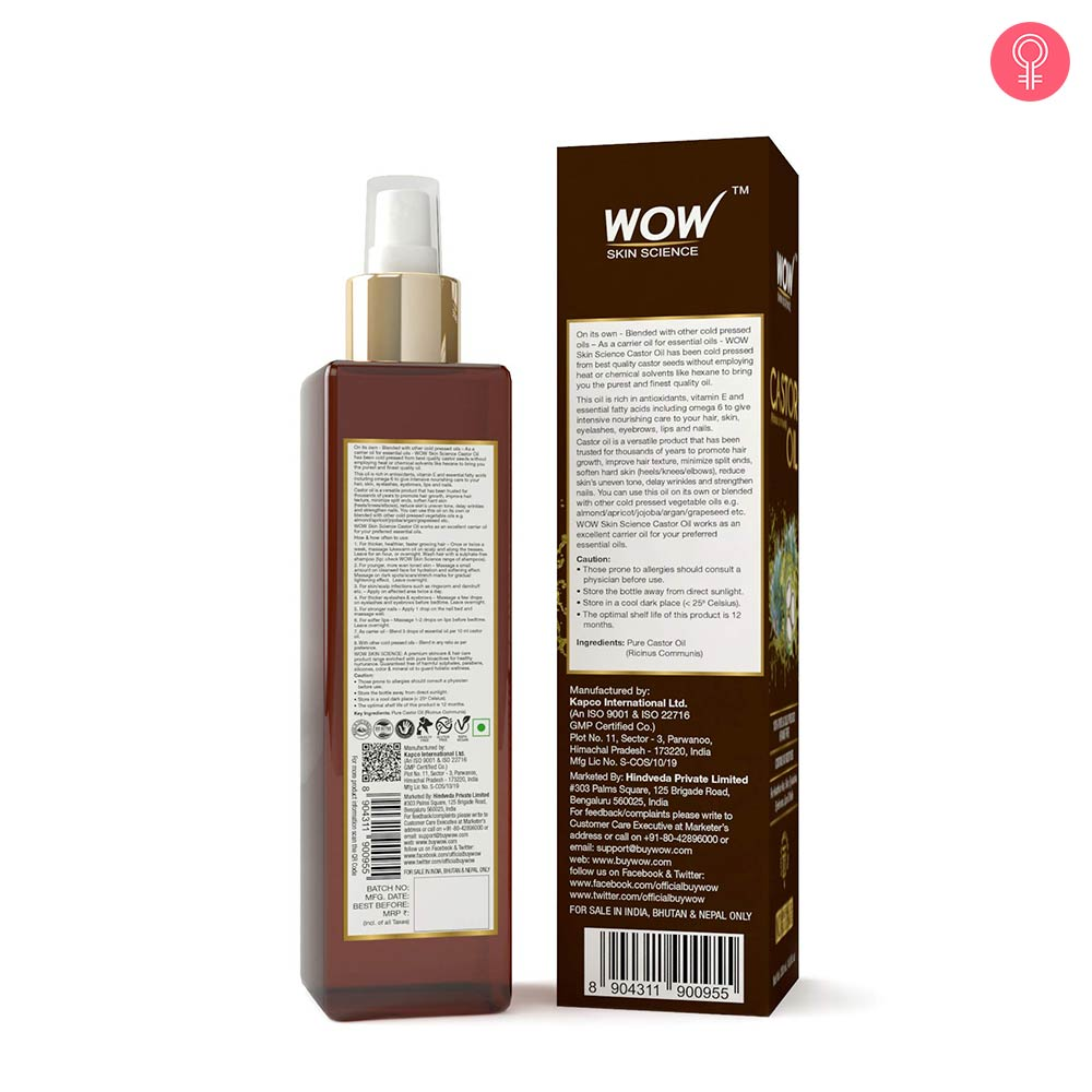 WOW Skin Science Castor Oil