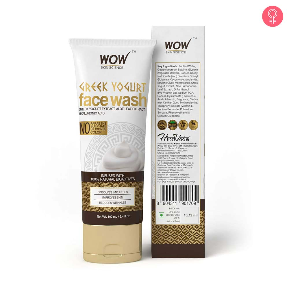 WOW Skin Science Greek Yogurt Gel Face Wash