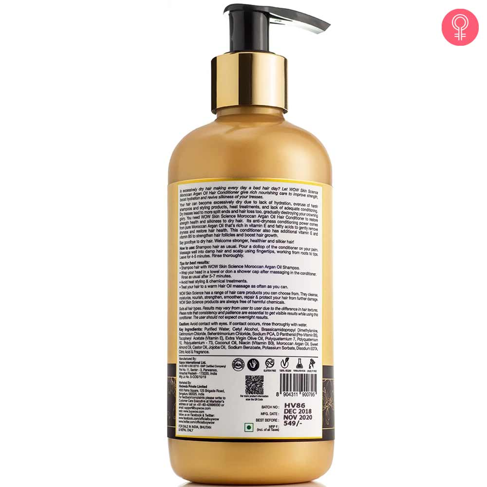 WOW Skin Science Moroccan Argan Oil Conditioner
