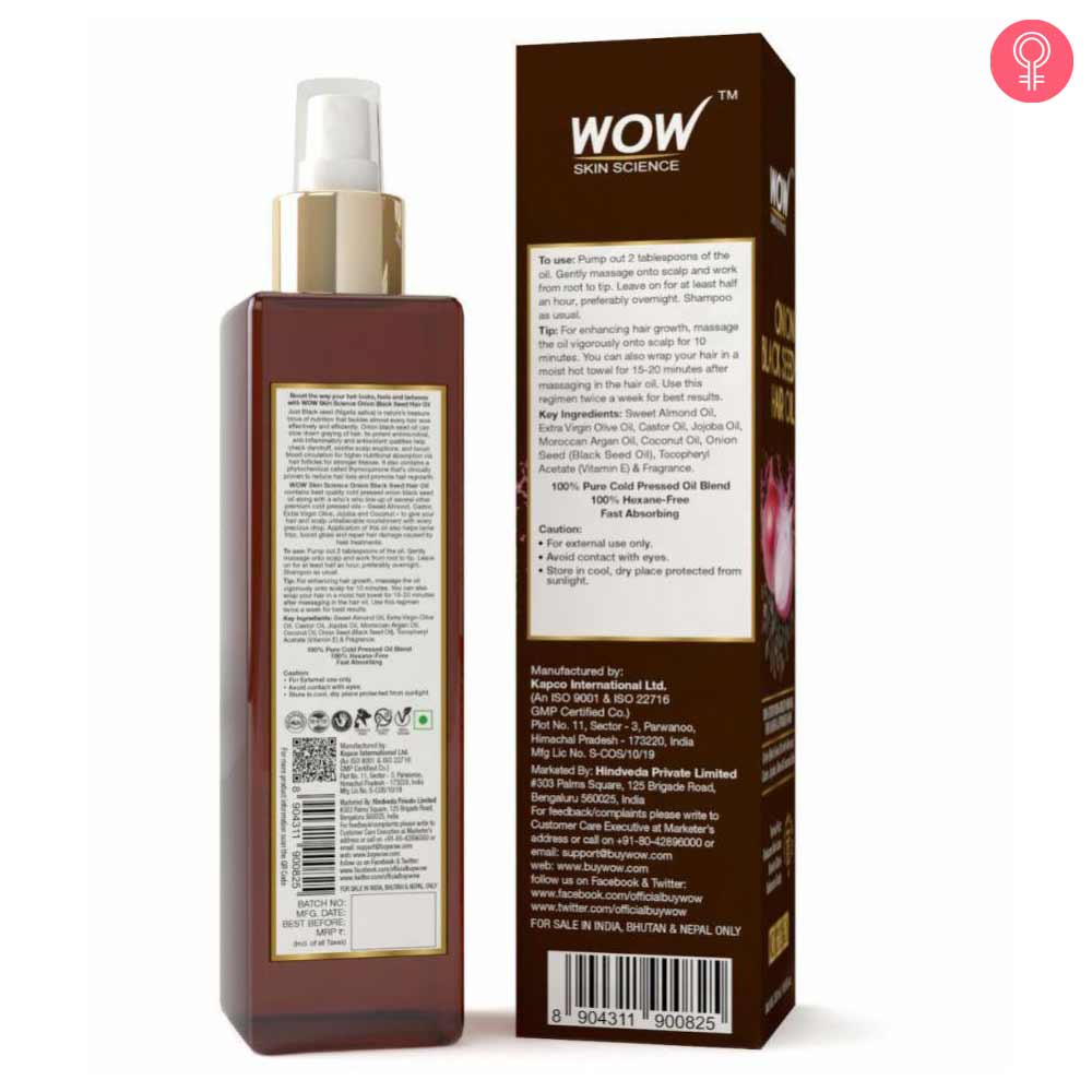 WOW Skin Science Onion Black Seed Hair Oil