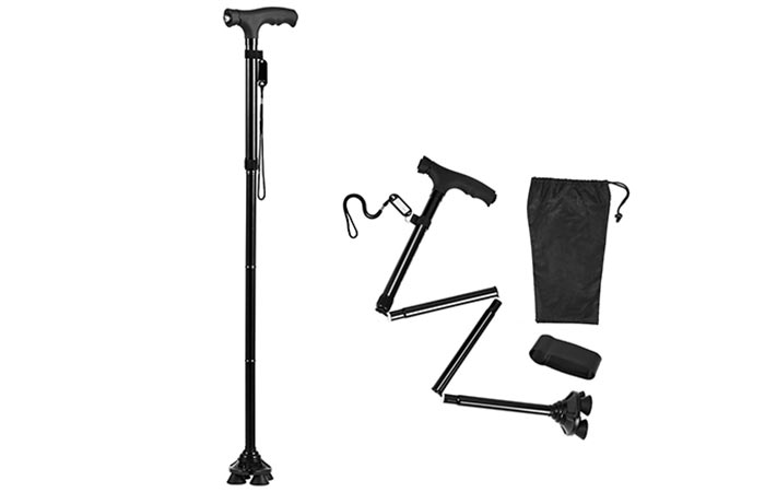 Walking Cane With LED Light BigAlex Folding Walking Cane With LED Light