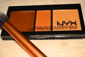 NYX Professional Makeup Cream Highlight & Contour Palette-Long-lasting formula-By riya_neema