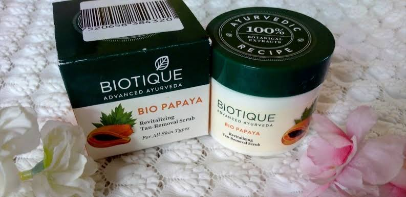 Biotique Bio Papaya Revitalizing Tan Removal Scrub -Best scrub for all time just try-By aliyaaw_afra