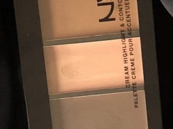 NYX Professional Makeup Cream Highlight & Contour Palette pic 2-blending is difficult-By Nasreen