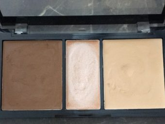 NYX Professional Makeup Cream Highlight & Contour Palette pic 1-blending is difficult-By Nasreen
