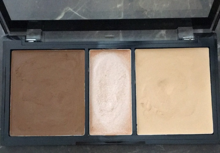 NYX Professional Makeup Cream Highlight & Contour Palette-blending is difficult-By Nasreen-1