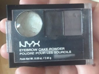 NYX Eyebrow Cake Powder pic 1-needs practice-By Nasreen