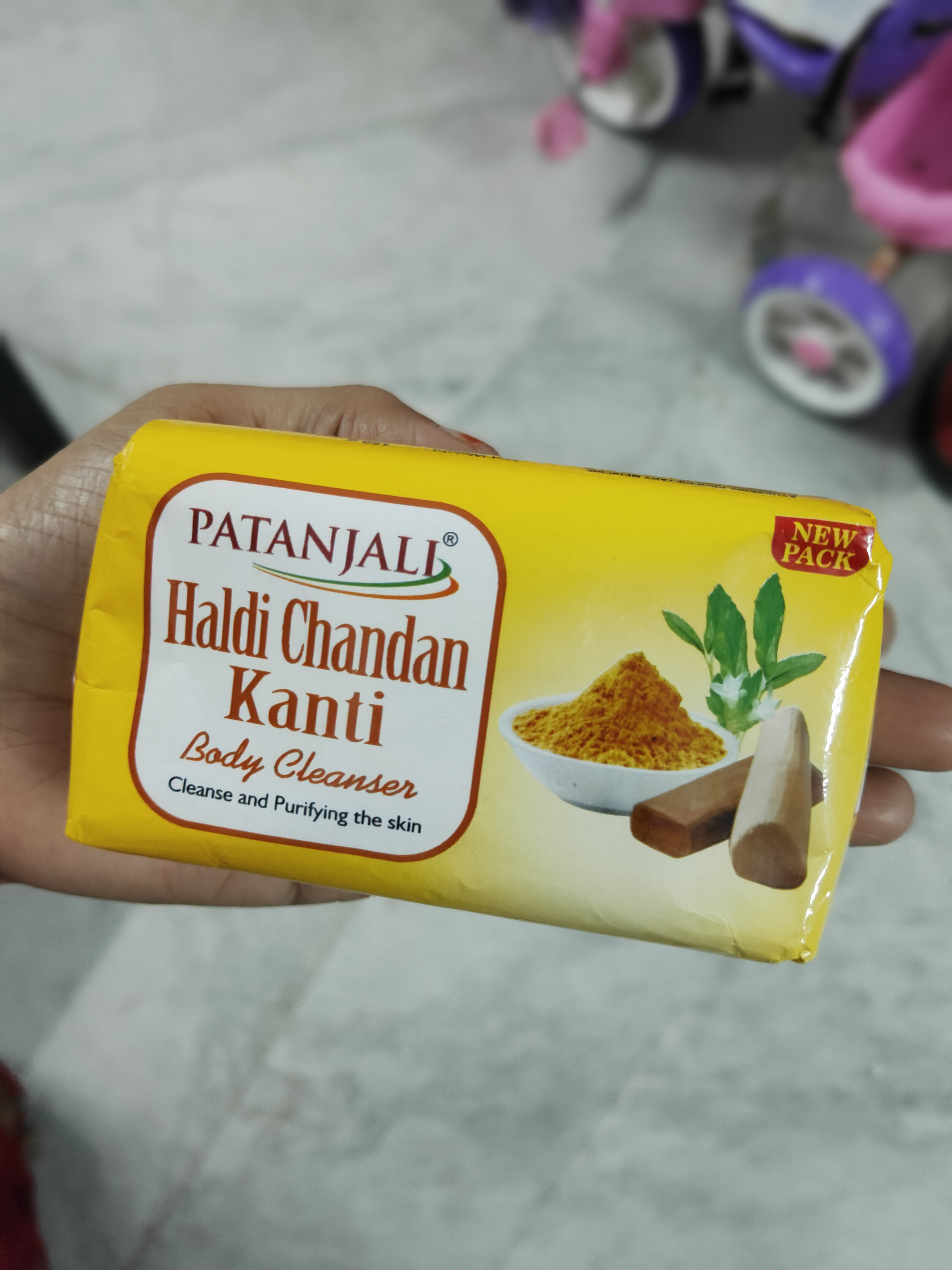 Patanjali Haldi Chandan Kanti Body Cleanser pic 2-Affordable Body Cleanser-By lalitha_satheesh