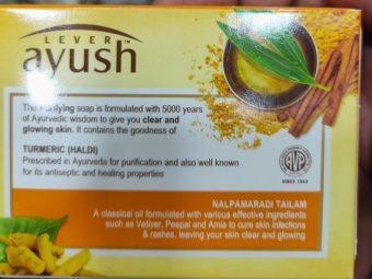Lever Ayush Purifying Turmeric Soap pic 3-Affordable Turmeric Soap-By sindoori_jayaprakash