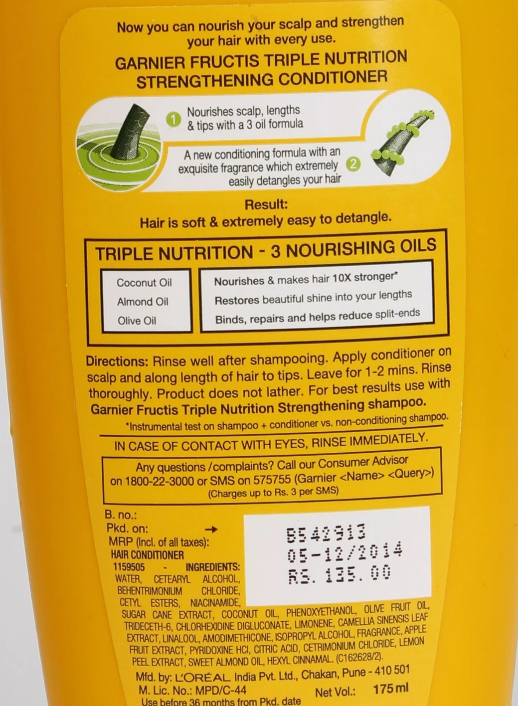 Garnier Fructis Triple Nutrition Fortifying Conditioner-A great conditioner at a great price-By phenix