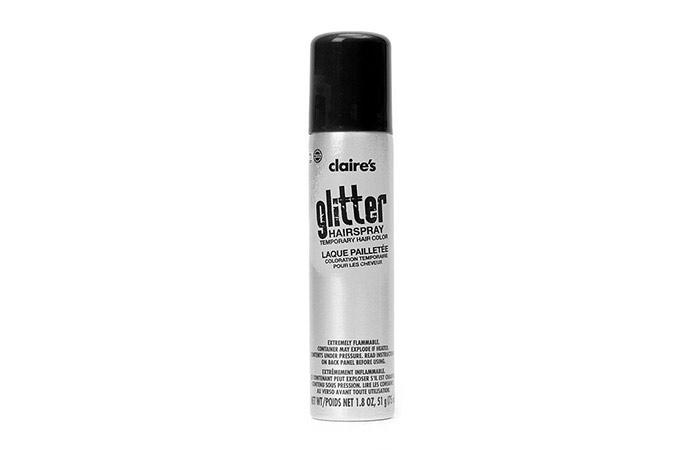 10. Claire's Glitter Hairspray