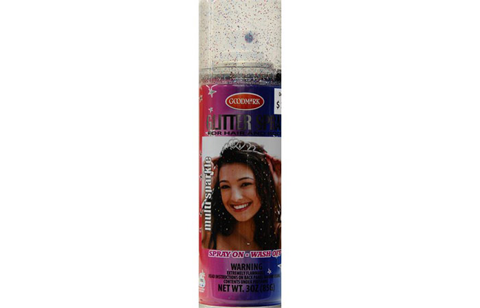 14. Goodmark Temporary Hair and Body Glitter Spray - Multi-Color