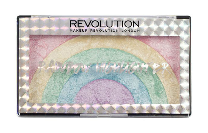 3. Makeup Revolution Rainbow Highlighter
